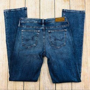 BIG STAR Blue Distressed Straight Leg Jeans